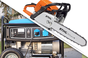 Chain Saw and Generator
